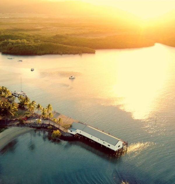sunset sail port douglas great barrier reef daintree rainforest