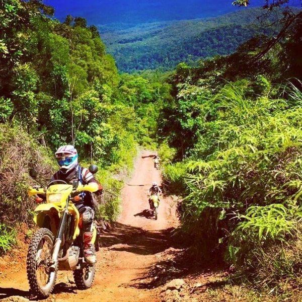 the creb track trail bike adventure daintree rainforest roaring meg falls china camp