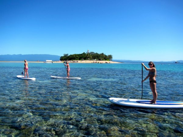 Low Isles Port Douglas explored snorkeling, stand-up paddleboarding and kitesurfing