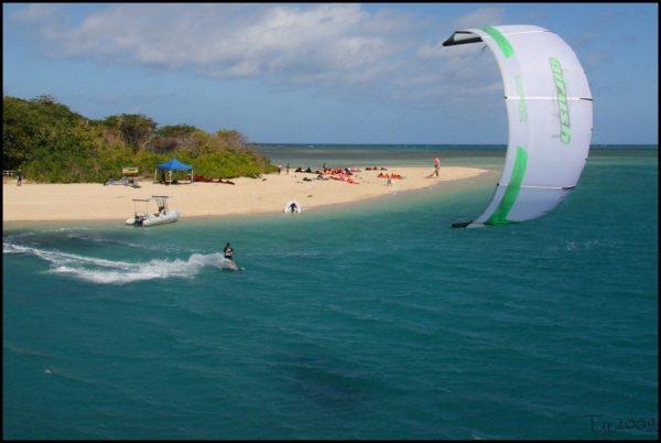 Kitesurfing Port Douglas Low Isles Great Barrier Reef turtles coral