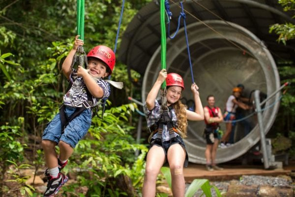 Jungle Surfing is just one of the many adventures you can experience at Cape Tribulation