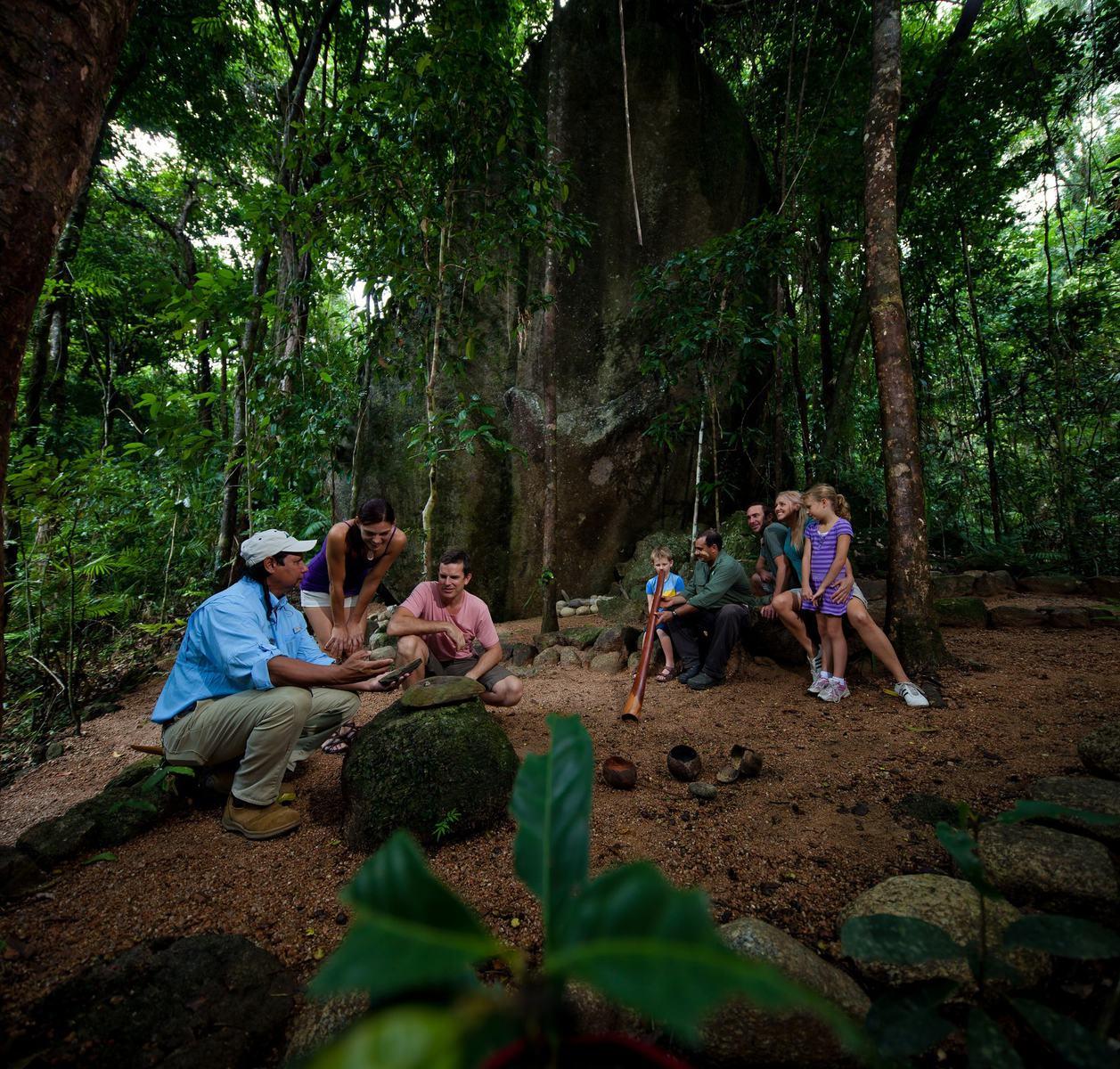 mossman gorge tours from mossman gorge centre on dreamtime walk indigenous culture Aboriginal tours of the Daintree rainforest
