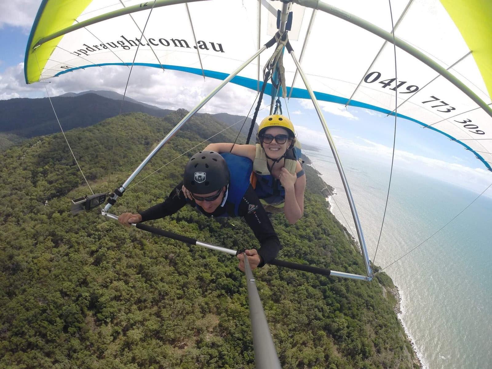 hang gliding port douglas rex lookout wangetti beach Great barrier reef drive beaches rainforest