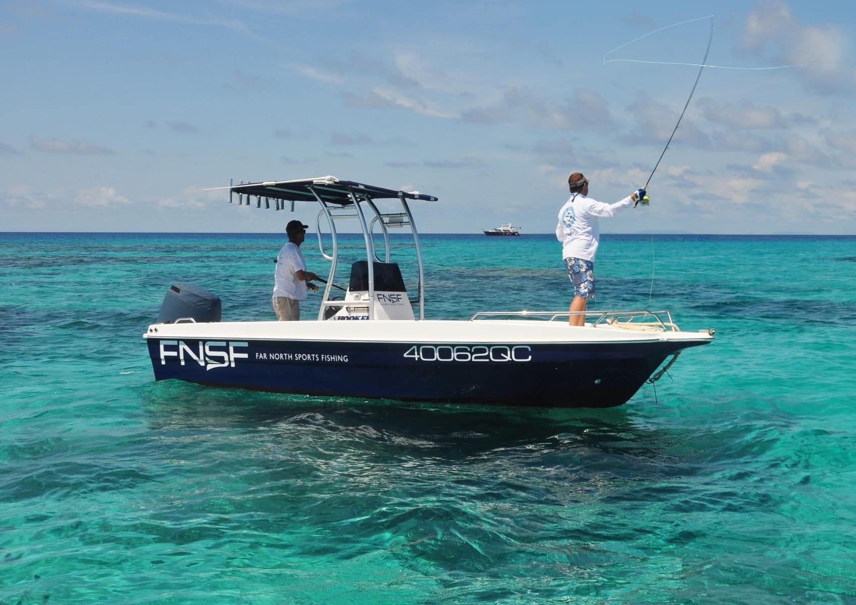 fishing tours port douglas Barramundi, Mangrove Jack, Finger Mark, Coral Trout, Nannygai, Red Emporia, Mackerel, Tuna and Giant Trevally