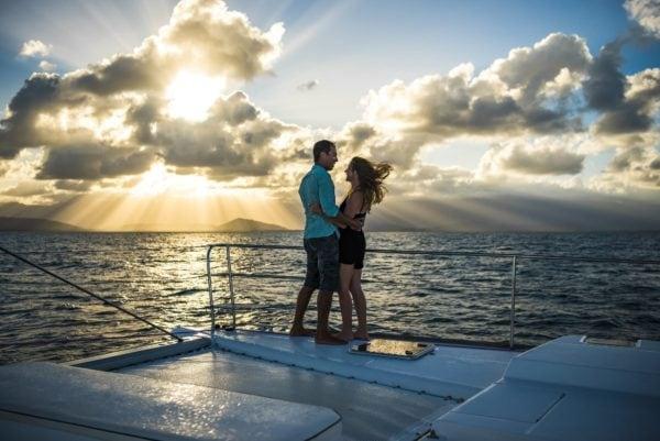 sunset cruise Port Douglas overlooking Coral Sea Daintree Rainforest romantic