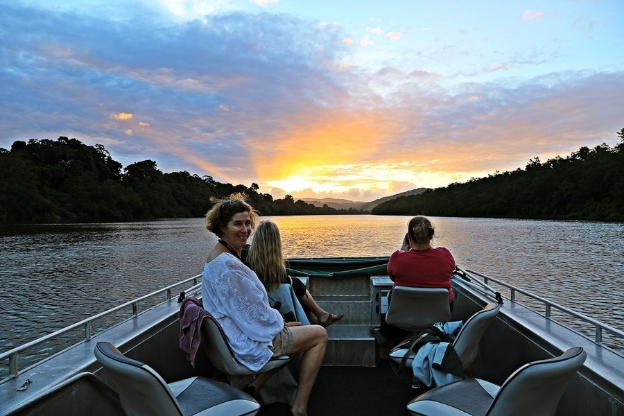 mossman daintree river map rainforest crocs photography sunset
